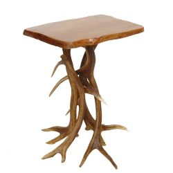 No Footsie Antler Side Table